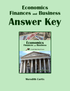 Economics, Finances, and Business Class Answer Key