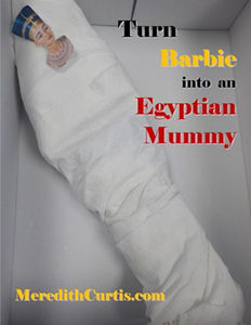 Turn Barbie into and Egyptian Mummy