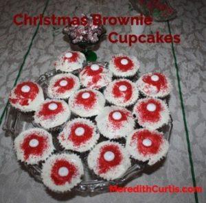 Christmas Brownie Cupcakes