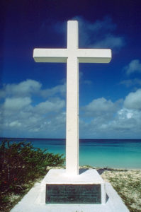 Cross at Coast in Bahamas