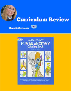 Curriculum Review Human Anatomy Coloring Book