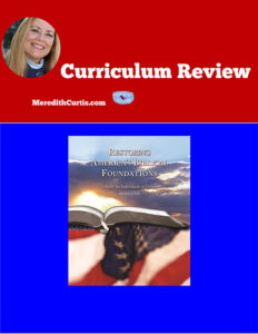 Curriculum Review Retoring Americas Biblical Foundations