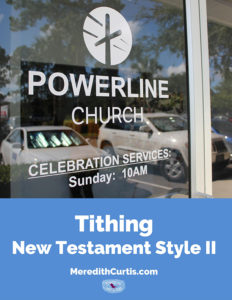 Tithing New Testament Style II