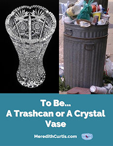 To Be A Trashcan or a Crystal Vase