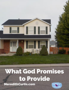 What God Promises to Provide