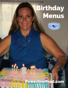 Birthday Menus