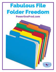Fabulous File Folder Freedom