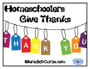 Homeschoolers Give Thanks