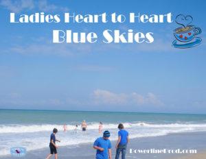 Ladies Heart to Heart Blue Skies