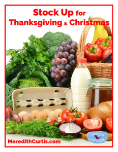 Stock Up for Thanksgiving and Christmas
