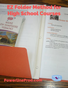 EZ Folder Method for High School Courses