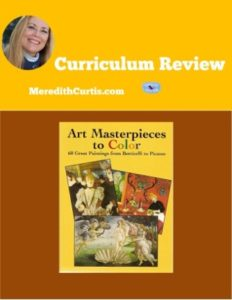 Homeschool Curriculum Review of Art Masterpieces to Color