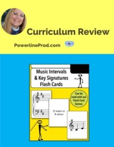 Homeschool Curriculum Review of Musical Intervals Key Signatures Flash Cards from Warm Hearts Publishing