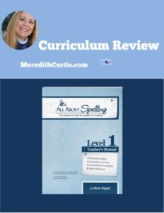 Homeschool Curriculum Review of All About Spelling