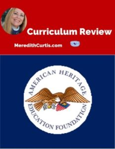 Homeschool Curriculum Review of American Heritage Education Foundation