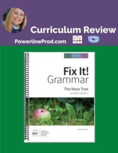 Homeschool Curriculum Review of IEWS Fix It Grammar: The Nose Tree