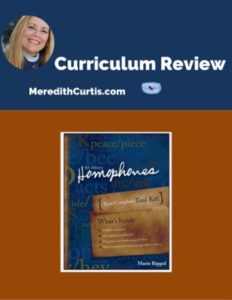 Homeschool Curriculum Review of All About Homophones