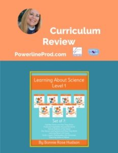 Homeschool Curriculum Review of Learning About Science Collection Level I from Write Bonnie Rose