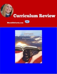Homeschool Curriculum Review of Restoring America's Biblical Foundation