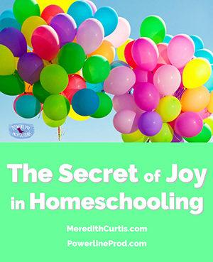 Secret Joy of Homeschooling